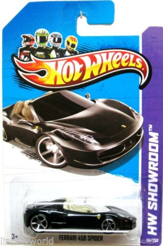 Ferrari 458 Spider 2013 Hot Wheels Showroom 151 250 Black W