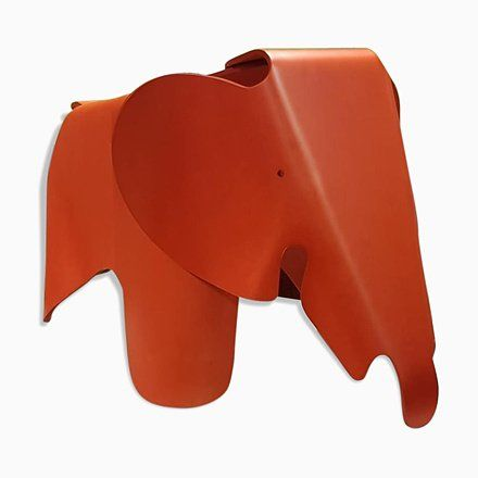 No 38 1000 Red Plywood Elephant Stool By Charles Ray Eames For