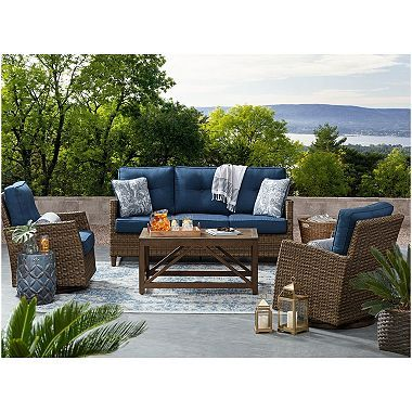 Members Mark Agio Collection Fremont Seating Set Indigo Outdoor Furniture Sets Pool Patio Furniture Patio Furniture Sets