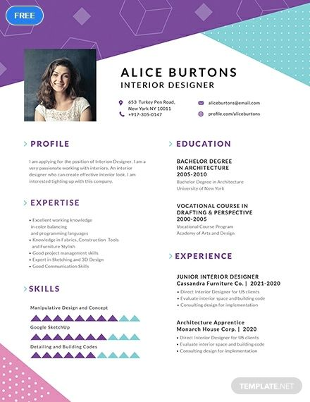 Download This Eye Catching Fully Layered One Page Resume Template For Free This Makes Use Of Easy To Edit Layo One Page Resume One Page Resume Template Words