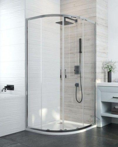 Duschkabine Dusche Duschwand Eckeinstieg Klarglas Transparent 80 X