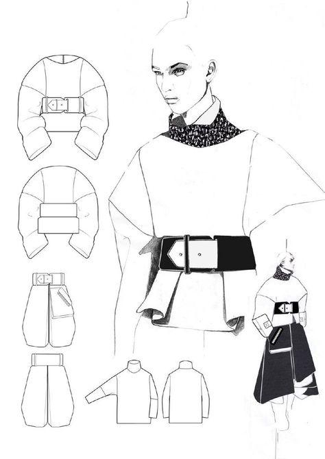 fashion design portfolio layout // Andrew Voss by sallie