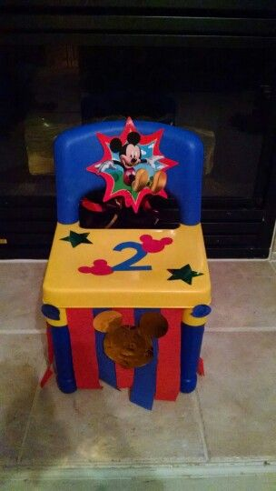 Awe Inspiring Elf On The Self Birthday Chair Idea Mickey Mouse Themed I Caraccident5 Cool Chair Designs And Ideas Caraccident5Info