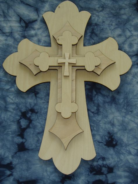 UNFINISHED WOOD CROSS CELTIC  #02-15/'/' tall size