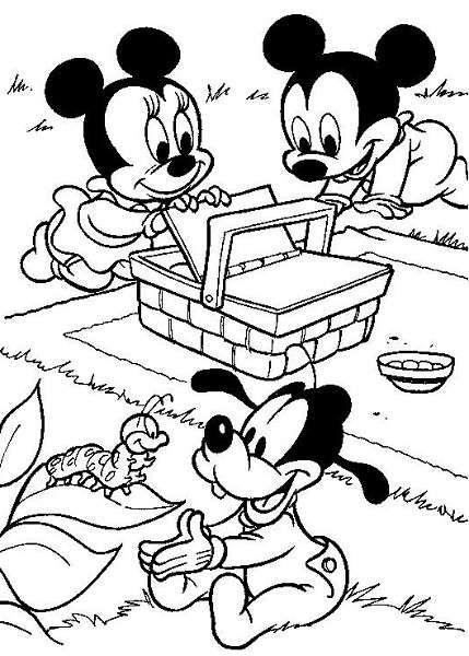 Coloriage A Imprimer Mickey