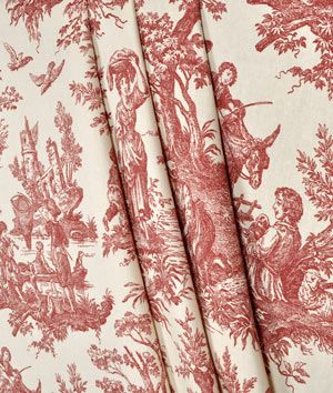 Waverly Country Life Toile Garnet Fabric Need This Somewhere Waverly Bedding Linen Bedding Fabric