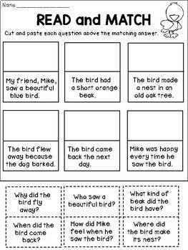 FREE Reading Comprehension Activities | 2nd Grade | 2nd ...