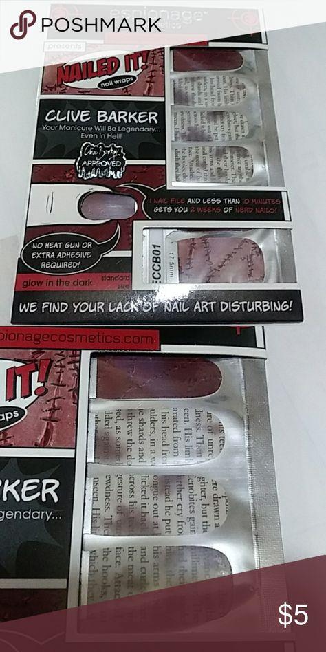 Nail Wraps Fandom Clive Barker Boutique Nail Wraps Nails Wraps