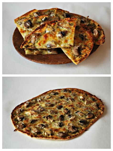 Pesto Flatbread Pizza Recipe -  8 Weight Watchers Points Plus!  Maybe this is the answer to my pizza problem!