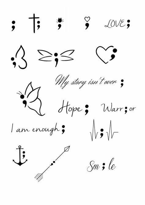 Tattoo Ideas Semicolon Semi Colon 33 New Ideas Minimalist