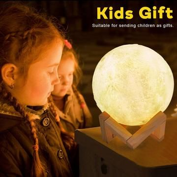 3d Led Moon Lamp 3d Printing Gifts For Kids Lamp