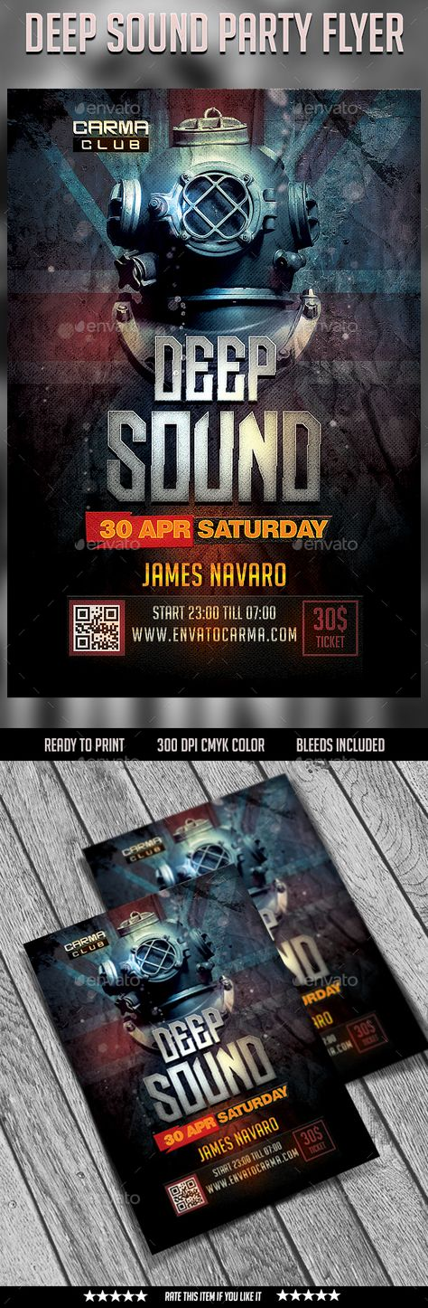 Guest Dj Night Flyer Template A unique high volume sound party - harmony flyer template
