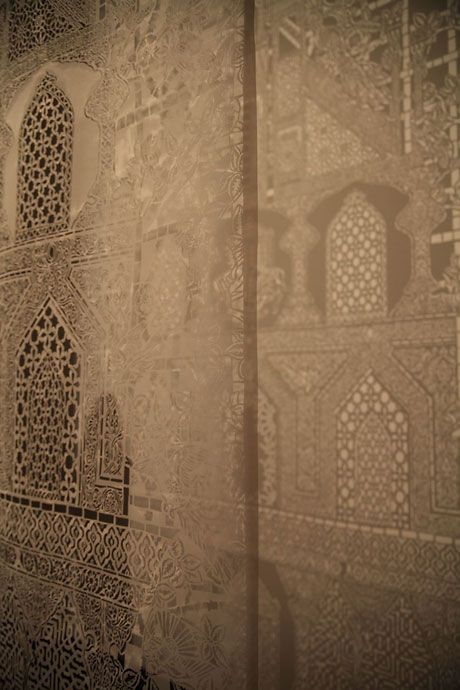 Afruz Amighi 1001 Pages Constructed From A Porous Plastic Sheet Of The Same Type Used For Refugee Tents Decoration D Islamic Motifs Plastic Sheets Handmade