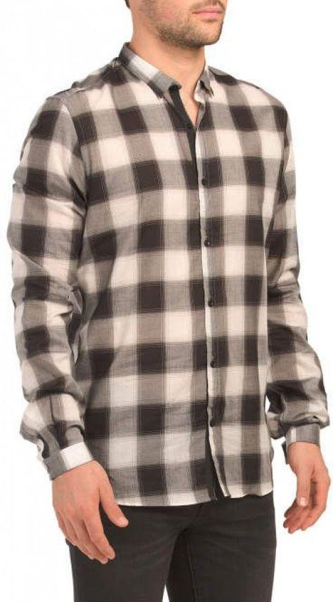 Light Veil Checks Woven Shirt #men'sbuttondownshirt #men's #button #down #shirt