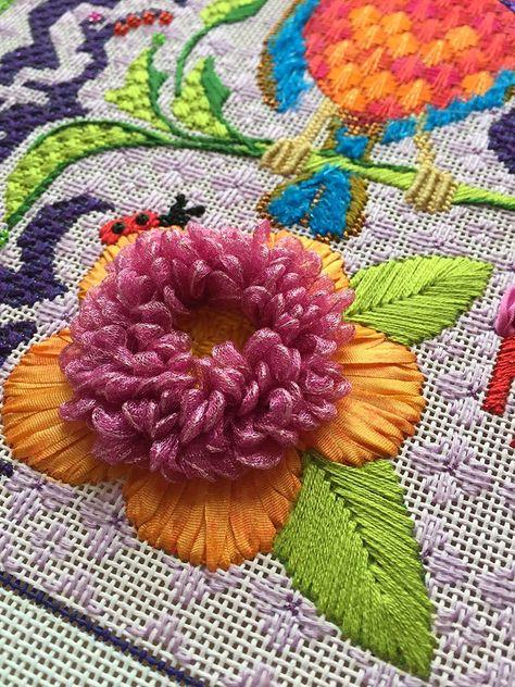 Satin Stitch Needlepoint : satin, stitch, needlepoint, Satin, Stitch, Ideas, Stitch,, Embroidery, Stitches