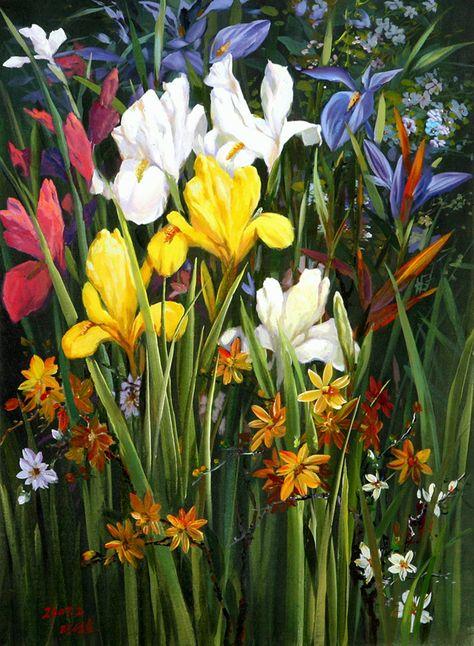 Прекрасные цветы от корейского художника Sung Lee. Обсуждение на LiveInternet…