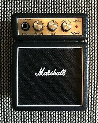 Marshall Ms 2 Mini Practice Half Stack Amp W Headphone Jack In 2020 Electric Guitar And Amp Amplifier Guitar Pedal Boards