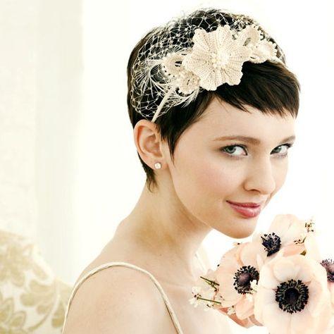Short bridal hairstyle