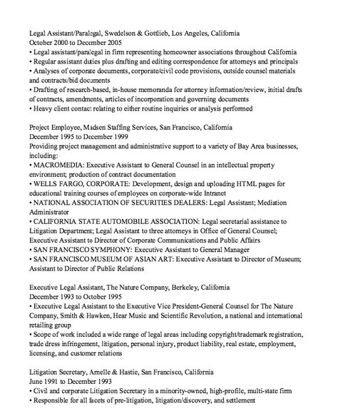 Independent Contractor Resume Sample - http\/\/resumesdesign - paralegal job description resume