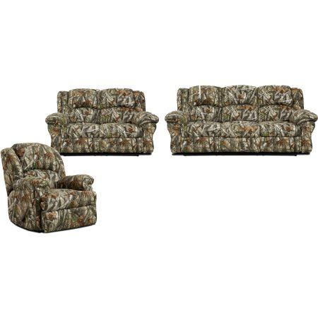Stupendous Cambridge Camo 3 Piece Living Set Sofa Loveseat Recliner Onthecornerstone Fun Painted Chair Ideas Images Onthecornerstoneorg