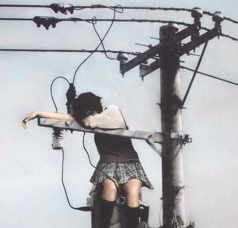 'Japanese sad girl' by Skyzodesu Japanese Aesthetic, Aesthetic Grunge, Aesthetic Girl, Emo, Arte Grunge, Mode Sombre, Mode Lolita, Poses References, Tumblr Boys