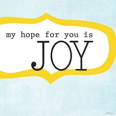 """Oopsy Daisy My Hope For You Is Joy Canvas Art, Canvas in Blue/White, Size 18""""H X 18""""W X 1""""D 