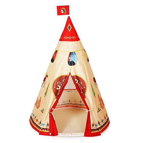 red indian large play tent