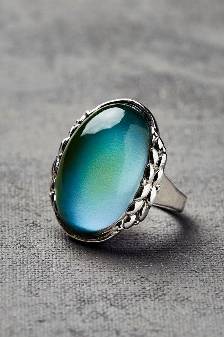 Mood Ring ~ Rings with stones that change color in response to the body temperature, which is supposed to indicate your mood.