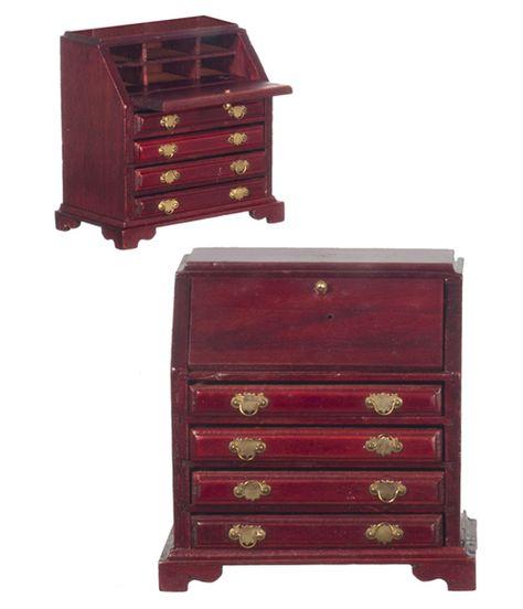 Queen Anne Highboy chest  M0754  miniature dollhouse furniture wood 1//12 scale