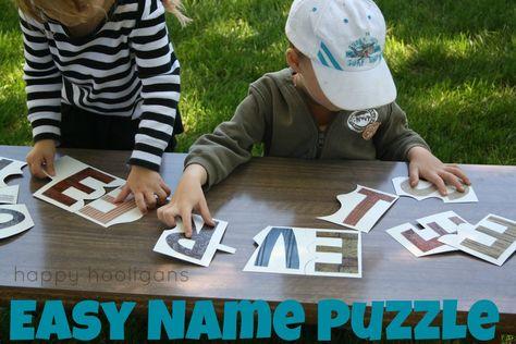 easy name puzzle - happy hooligans