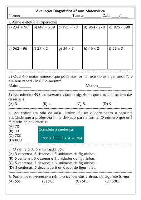 Espaco Professor Atividades Atividades De Matematica