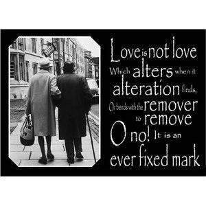 Love Is Not Love Which Alters When Alteration Finds Or Bends With