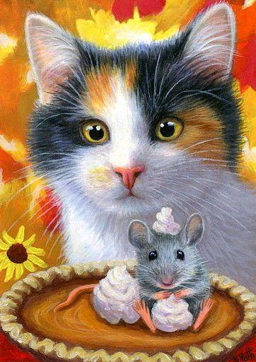 Rat ACEO Print Curious by I Garmashova