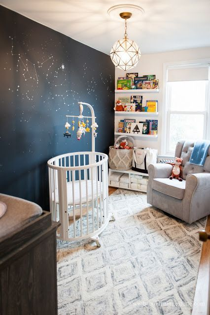 Girl Astronaut Nursery Makeover Nursery Baby Room Space Themed