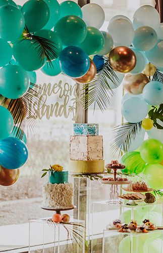 Tropical Caribbean Island Baby Shower Inspired By This