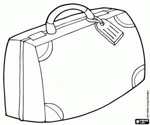 Stacked Vintage Suitcases Colouring Page Coloring Pages Bullet