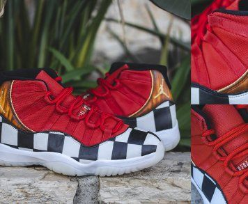 Your Very Own Pair Of Custom Air Jordan 11 Platinum Tint Shoes By