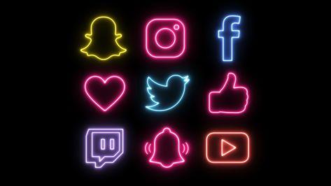 Snapchat Icon, Snapchat Logo, Social Network Icons, Social Media Icons, Wallpaper Iphone Neon, Aesthetic Iphone Wallpaper, Web Banner Design, Banner Do Youtube, Whatsapp Logo