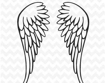 Wings Svg Angel Wings Svg And Png Instant Download Beautiful Wings Svg For Silhouette And Cricut Angel Wing Ankle Tattoo Winged Stencil Angel Silhouette