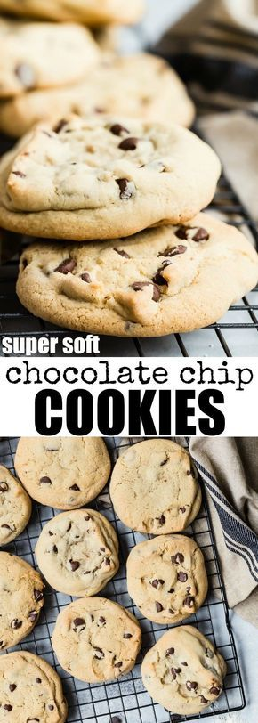 The softest, chewiest chocolate chip cookies. Underbake them slightly so they come out with crispy edges and soft centers! Use chips AND chunks for magic. | chocolate chip cookies | soft | chewy | cookies | chocolate | recipe | from scratch | #chocolatechipcookies #softcookies #cookies