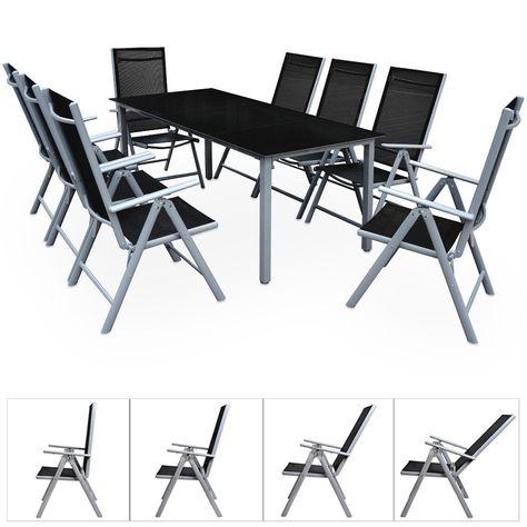 Alu Sitzgruppe 8 1 Gartenmobel Gartengarnitur Garten Tisch Stuhl