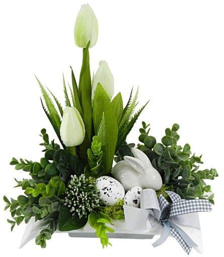 Wielkanocny Stroik Zajaczek Swiateczny Wielkanoc 7826401192 Oficjalne Archiwum Allegro Easter Flower Arrangements Easter Arrangement Easter Floral Arrangement