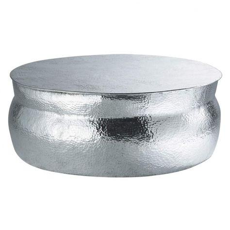 d4f78bcd76f30 Table basse ronde en aluminium martelé en 2019
