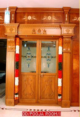 pooja room design. home mandir. lamps. doors. vastu. idols ...