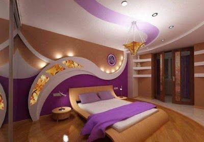 ديكورات جبس غرف النوم فاخرة للبنات والعرسان ثم الأطفال Bedroom Design Modern Bedroom Design Bedroom Bed Design