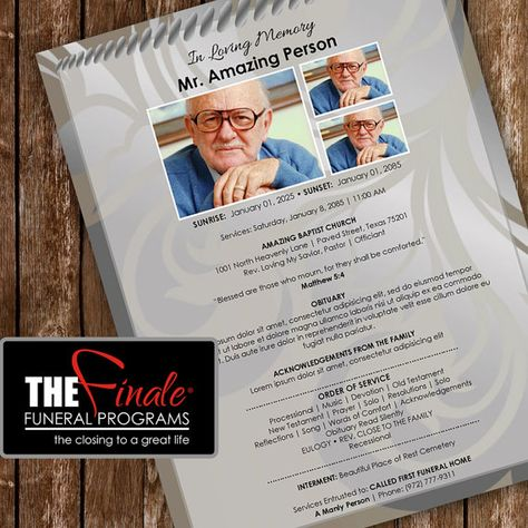 Printable Funeral Program Template @creativework247 Brochure - funeral program template microsoft