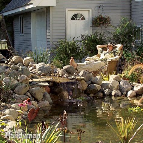 How to Build a Pond and Waterfall in the Backyard