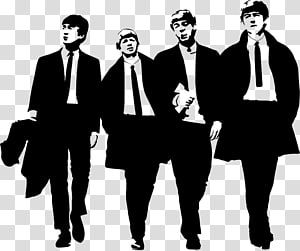 The Beatles Stencil The Beatles Abbey Road Silhouette Business Man Silhouette Transparent Background Png Clip The Beatles Cartoon Silhouette Logo Silhouette