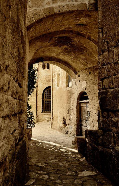 Dentro Civita Di Bagnoregio Vt Italy Italia Italia Lugares