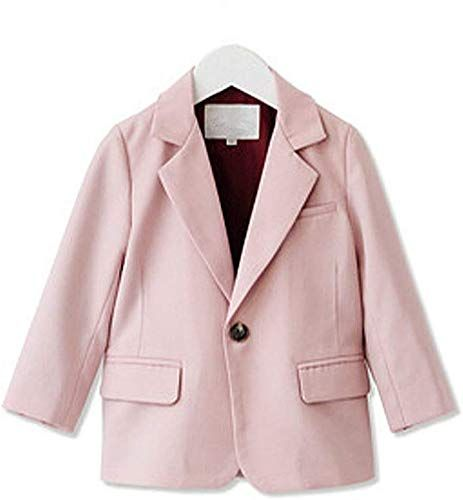 ZPW Little Girls Solid One Button Blazer Jacket Pink